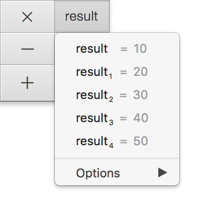 Result Menu From Button